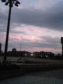 夕方の泉中央。