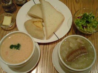 パンとスープ。