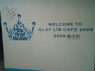 GLAY LiBカフェ写真。