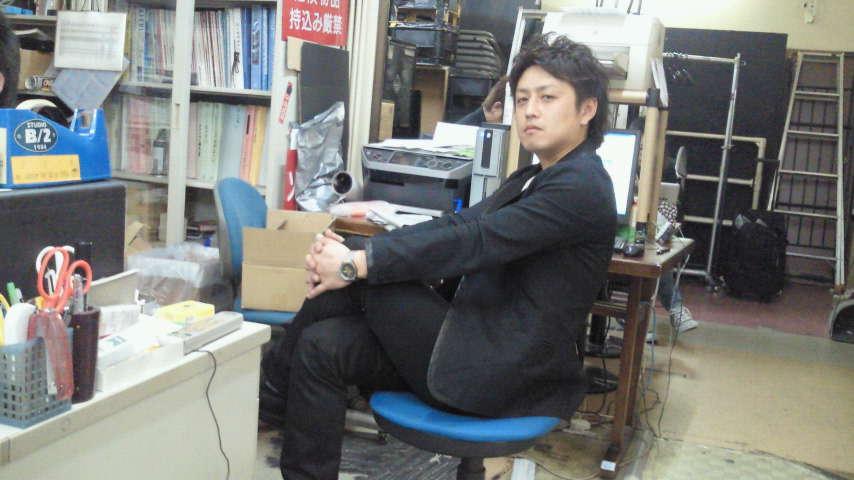 JUNKの事務所で。