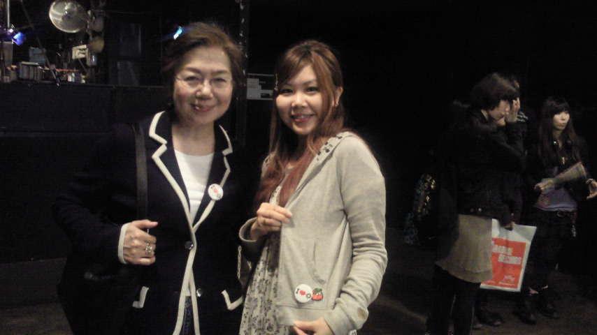 板橋恵子さんと。