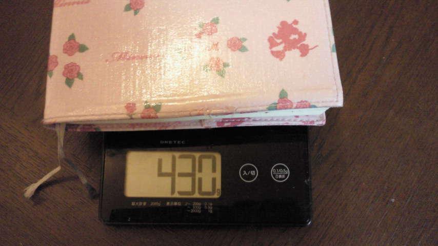 手帳の重さ。
